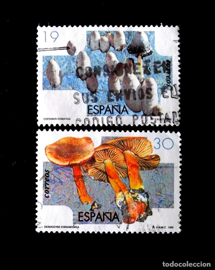 3341-2, SERIE USADA. MICOLOGÍA. (Sellos - España - Juan Carlos I - Desde 1.986 a 1.999 - Usados)