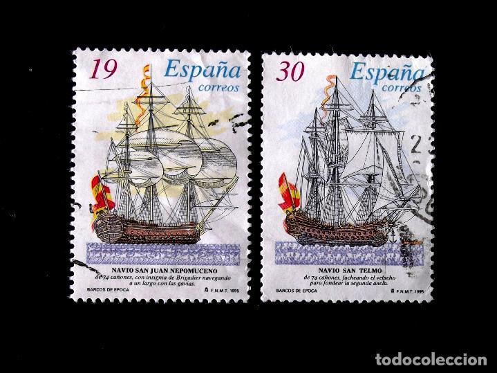 SH 3352-3, USADOS. BARCOS. (Sellos - España - Juan Carlos I - Desde 1.986 a 1.999 - Usados)