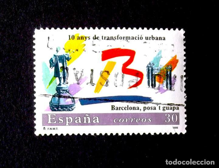3411, SERIE USADA. BARCELONA. (Sellos - España - Juan Carlos I - Desde 1.986 a 1.999 - Usados)