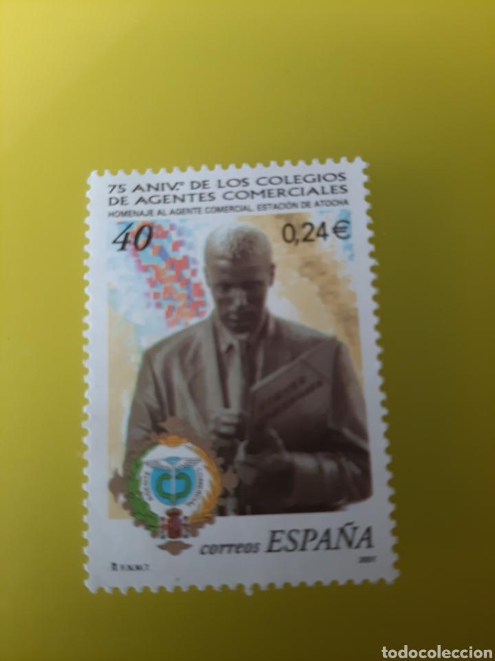 EDIFIL 3776 ESPAÑA 2001 AGENTES COMERCIALES SELLO 40 PESETAS FILATELIA COLISEVM (Sellos - España - Juan Carlos I - Desde 2.000 - Usados)
