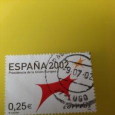 Sellos: LUGO MATASELLO 2002 EDIFIL 3865 UNIÓN EUROPEA FILATELIA COLISEVM LUGO. Lote 221451842