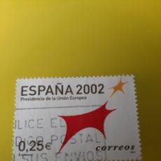 Sellos: MATASELLO CÓDIGO POSTAL ESPAÑA 2002 EDIFIL 3865 USADO UNIÓN EUROPEA FILATELIA COLISEVM LUGO. Lote 221452062