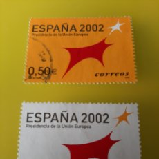 Sellos: 2002 PRESIDENCIA COMUNICAD EUROPEA ESPAÑA SERIE COMPLETA NUEVA EDIFIL 3865/3866 FILATELIA COLISEVM. Lote 221461510