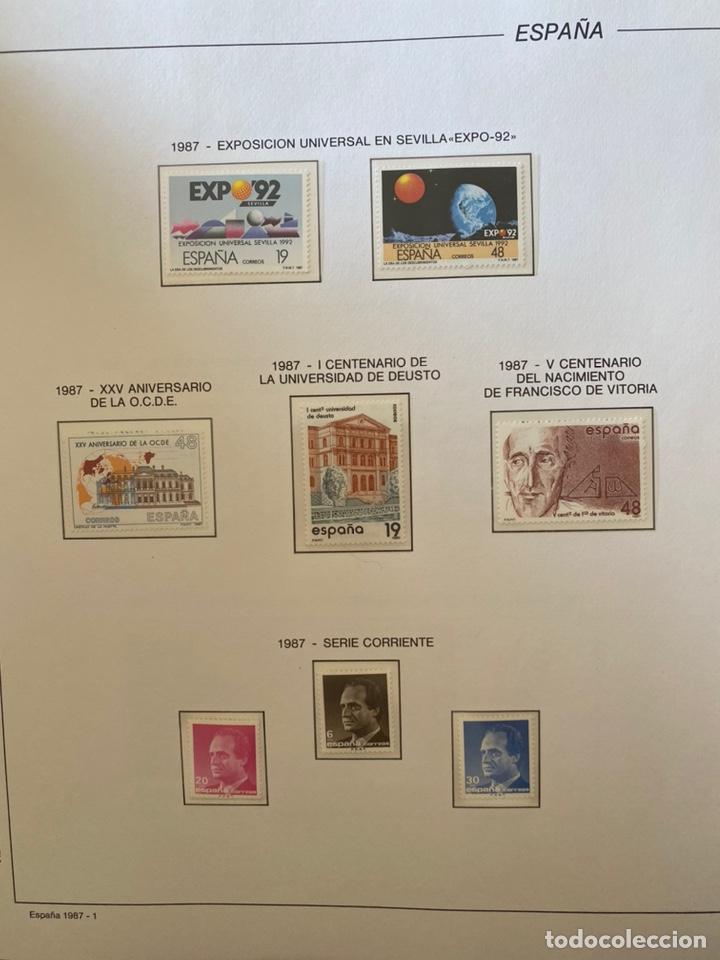 Sellos: Álbum de sellos 1984 a 1989 Juan Carlos I - Foto 6 - 221472060