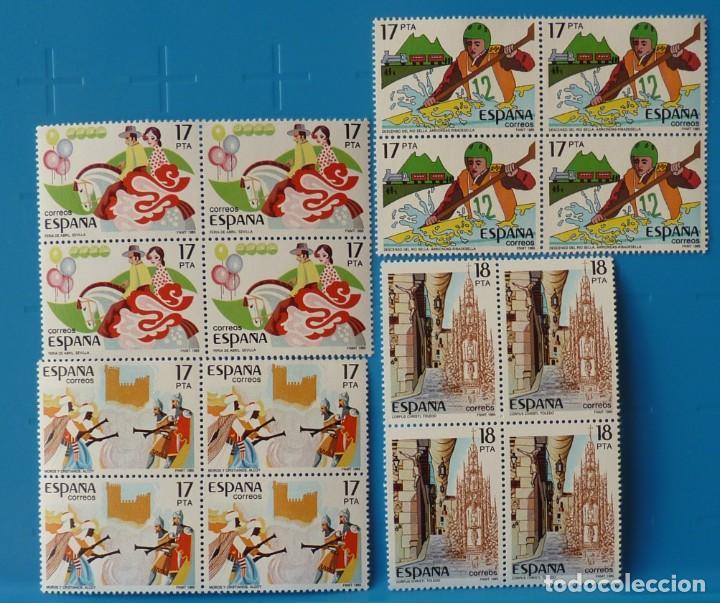 ESPAÑA 1985 EDIFIL NUM. 2783/6 *MNH* BLOQUE DE 4 (LEER DESCRIPCION) (Sellos - España - Juan Carlos I - Desde 1.975 a 1.985 - Nuevos)