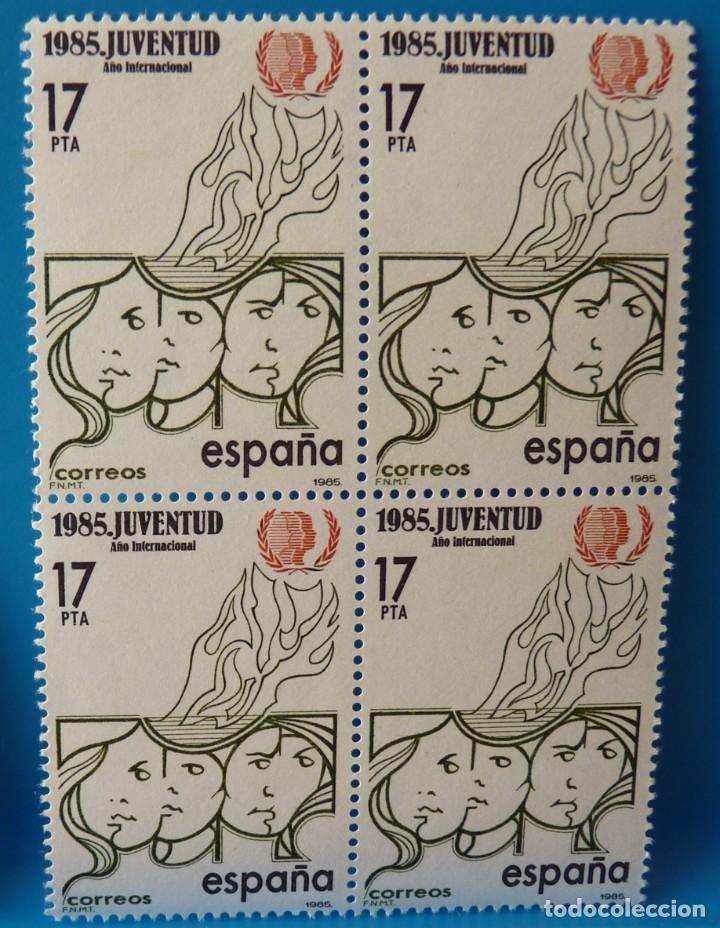 ESPAÑA 1985 - EDIFIL 2787 (*MNH*) EN BLOQUE DE 4 (Sellos - España - Juan Carlos I - Desde 1.975 a 1.985 - Nuevos)