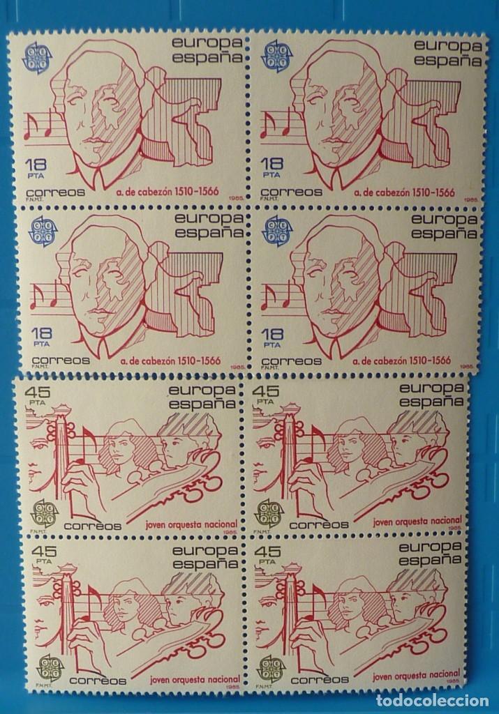 ESPAÑA 1985 EDIFIL 2788/9 *MNH* BLOQUE DE 4 (Sellos - España - Juan Carlos I - Desde 1.975 a 1.985 - Nuevos)