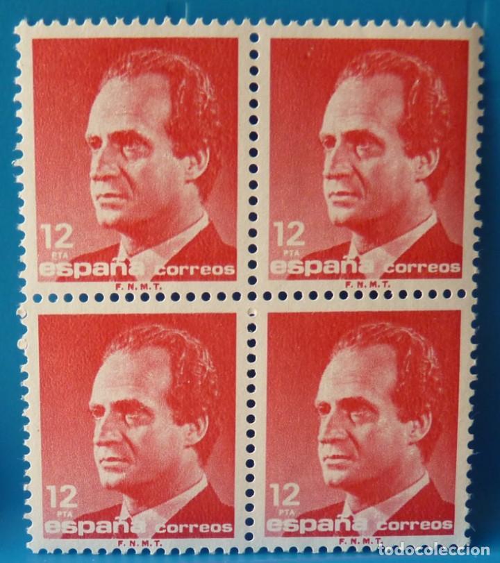 ESPAÑA 1985 JUAN CARLOS I - 12 PTA ROJO MEDIO - BLOQUE DE 4 - EDIFIL 2798 (Sellos - España - Juan Carlos I - Desde 1.975 a 1.985 - Nuevos)