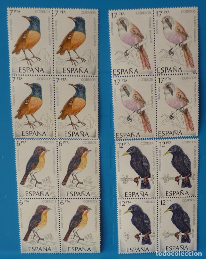 ESPAÑA 1985 - EDIFIL 2820/2823 - PAJAROS *MNH* BLOQUE DE 4 (Sellos - España - Juan Carlos I - Desde 1.975 a 1.985 - Nuevos)