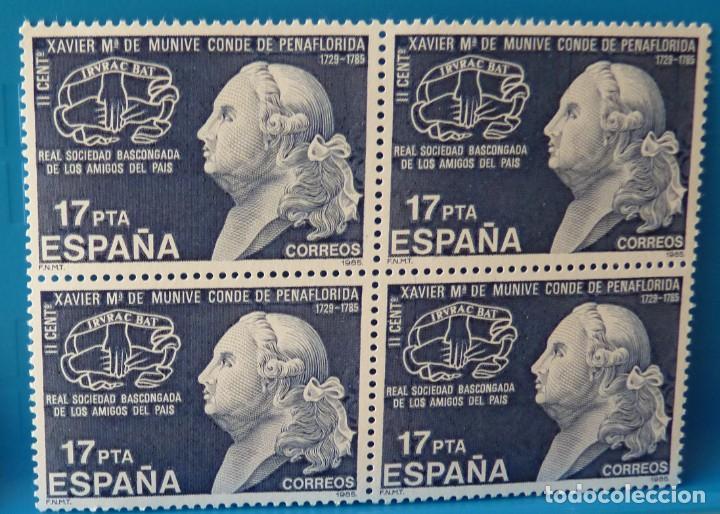ESPAÑA 1985 - EDIFIL 2824 (*MNH*) BLOQUE DE 4 (Sellos - España - Juan Carlos I - Desde 1.975 a 1.985 - Nuevos)