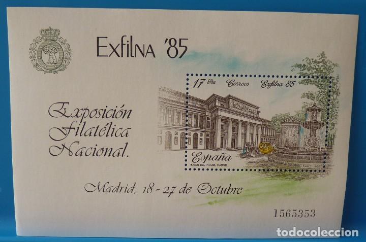 ESPAÑA 1985 HOJITA EXFILNA´85 EDIFIL 2814 *MNH* (Sellos - España - Juan Carlos I - Desde 1.975 a 1.985 - Nuevos)