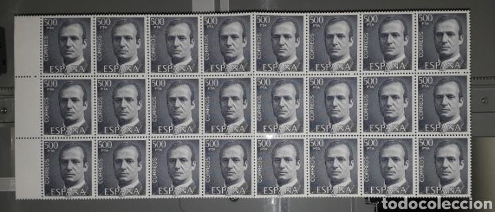 1981 EDIFIL 2607 500 PESETAS BLOQUE DE 24 SELLOS PERFECTO ESTADO (Sellos - España - Juan Carlos I - Desde 1.975 a 1.985 - Nuevos)