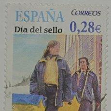 Sellos: SELLO ESPAÑA, DÍA DEL SELLO, EL CARTERO, 0.28€, 2005. Lote 221591623