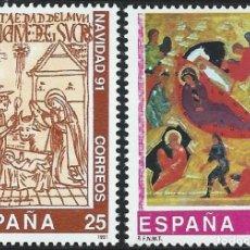 Sellos: 1991. ESPAÑA. EDIFIL 3142/43**MNH. NAVIDAD.. Lote 221613796