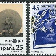 Sellos: 1991. ESPAÑA. EDIFIL 3116/17**MNH. EUROPA. ESPACIO. INTA-NASA. OLYMPUS-ESA.. Lote 221614991