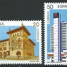 Sellos: 1990. ESPAÑA. EDIFIL 3058/9**MNH. EUROPA. EDIFICIOS COMUNICACIONES. VITORIA. MÁLAGA.. Lote 221617180