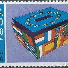 Sellos: 1989. ESPAÑA. EDIFIL 3015**MNH. ELECCIONES AL PARLAMENTO EUROPEO.. Lote 221617972