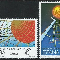 Sellos: 1988. ESPAÑA. EDIFIL 2939/40**MNH. EXPOSICIÓN UNIVERSAL SEVILLA. EXPO'92.. Lote 221622597