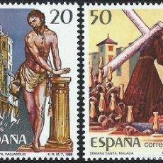 Sellos: 1988. ESPAÑA. EDIFIL 2933/34**MNH. SEMANA SANTA. VALLADOLID. MÁLAGA.. Lote 221622877