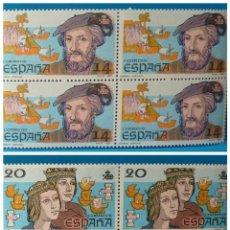 Sellos: ESPAÑA 1987 EDIFIL 2919-1924 *MNH* BLOQUE DE 4. Lote 221703901