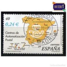 Sellos: ESPAÑA 2001. EDIFIL SH3855A, SH 3855A, 3855. AUTOMATIZACIÓN POSTAL. USADO. Lote 221725566