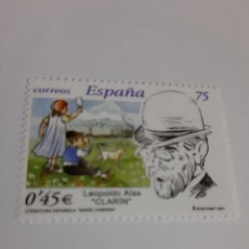 Sellos: AÑO 2001 EDIFIL 3802 LITERATURA ESPAÑOLA CLARÍN FILATELIA COLISEVM LUGO. Lote 221740126