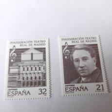 Sellos: MUSICA TEATRO REAL MADRID MIGUEL FLETA ESPAÑA EDIFIL 3514/3515 FILATELIA COLISEVM LUGO. Lote 221741731