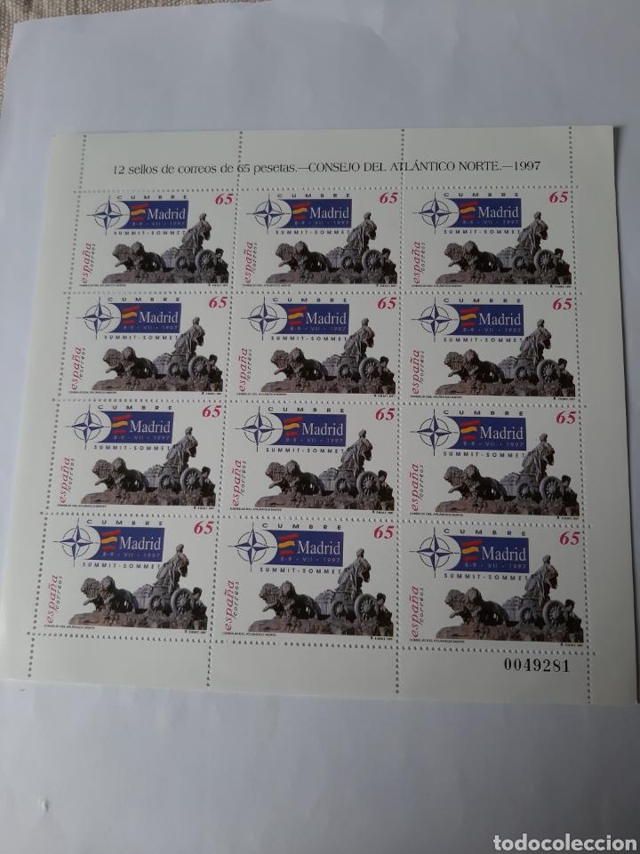 1997 EDIFIL 3496 MINI PLIEGO 56 CONSEJO ATLÁNTICO ESPAÑA FILATELIA COLISEVM (Sellos - España - Juan Carlos I - Desde 1.986 a 1.999 - Nuevos)