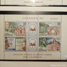 Sellos: HOJA 1980-EXPOSICION FILATÉLICA DE AMÉRICA Y EUROPA ESPAMER,80. Lote 221804078