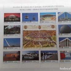 Sellos: ESPAÑA AÑO 1992 MINIPLIEGO Nº 42A-42B NUEVO. Lote 221874057