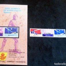 Selos: ESPAÑA - 1992 - EDIFIL 3215/17 /**/ - JUEGOS OLÍMPICOS DE BARCELONA 92 + BOL INFORMACIÓN Nº 16/92. Lote 221919602