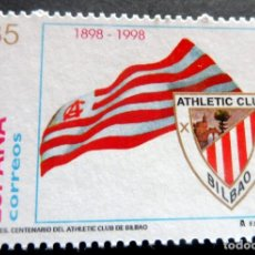 Selos: ESPAÑA - 1998 - EDIFIL 3530 /**/ DEPORTES CENT. ATHLETIC DE BILBAO - A PRECIO FACIAL. Lote 221935302