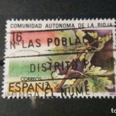 Sellos: SELLO USADO. ESTATUTO DE AUTONOMÍA DE LA RIOJA. 28 DE FEBRERO DE 1983. EDIFIL 2689.. Lote 221983365