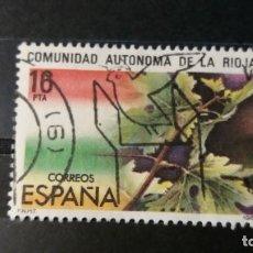 Sellos: SELLO USADO. ESTATUTO DE AUTONOMÍA DE LA RIOJA. 28 DE FEBRERO DE 1983. EDIFIL 2689.. Lote 221983372