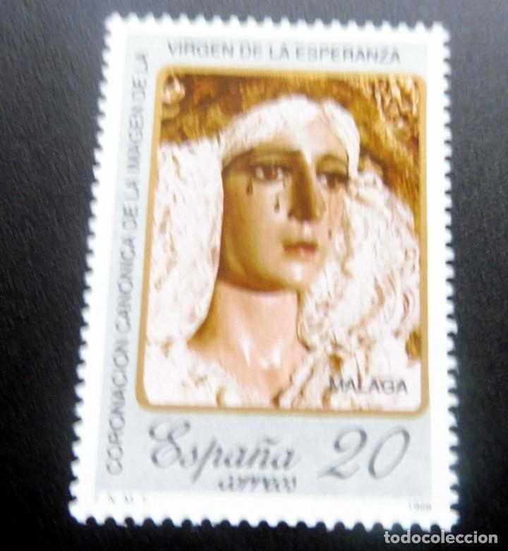 ESPAÑA - 1988 - EDIFIL 2954 /**/ CORONACIÓN CANÓNICA VIERGEN ESPERANZA MÁLAGA - PRECIO FACIAL (Sellos - España - Juan Carlos I - Desde 1.986 a 1.999 - Nuevos)