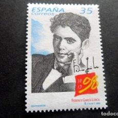 Sellos: ESPAÑA - 1998 - EDIFIL 3549 /**/ CENTENARIOS FEDERICO GARCIA LORCA - A PRECIO FACIAL. Lote 222034605
