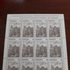 Sellos: EDIFIL 3390 1995 MINIPLIEGO 48 MONASTERIO DE SANTA MARÍA GUADALUPE PATRIMONIO HUMANIDAD ESPAÑA. Lote 222034952