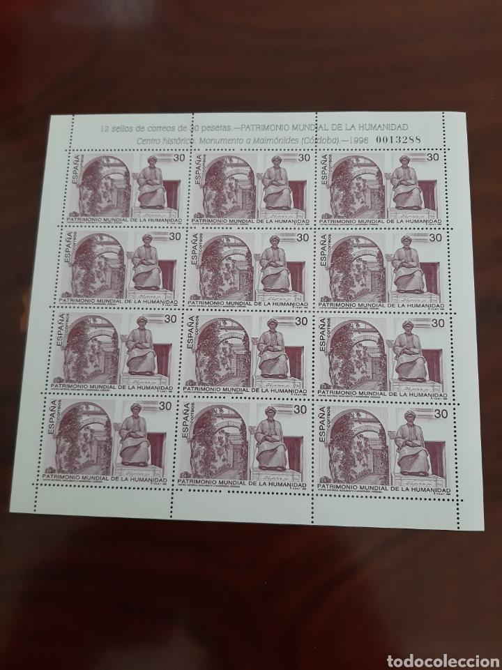 CÓRDOBA MONUMENTO A MAIMONIDES 1996 EDIFIL 3454 MINIPLIEGO 52 ARQUITECTURA FILATELIA COLISEVM (Sellos - España - Juan Carlos I - Desde 1.986 a 1.999 - Nuevos)