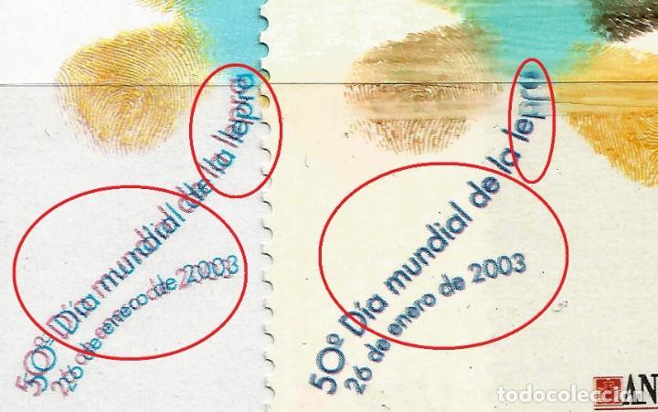 EDIFIL 3959 DÍA MUNDIAL CONTRA LA LEPRA - 2 SELLOS - VARIEDAD - 2 FOTOS (Sellos - España - Juan Carlos I - Desde 1.986 a 1.999 - Nuevos)
