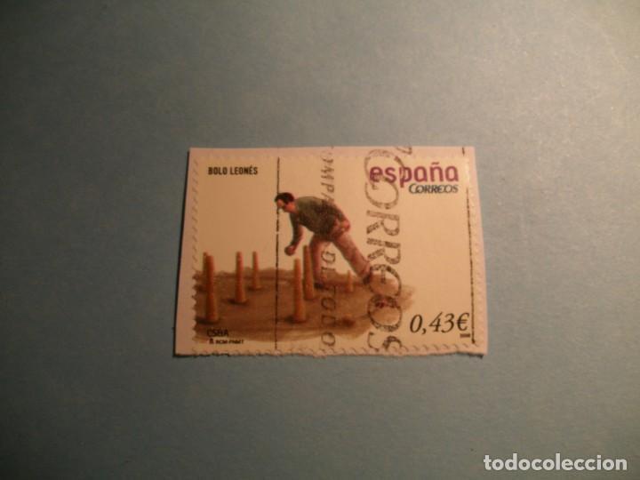 ESPAÑA 2008 - JUEGOS Y DEPORTES - BOLO LEONES - EDIFIL 4421A. (Sellos - España - Juan Carlos I - Desde 2.000 - Usados)