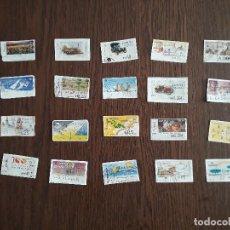 Sellos: LOTE DE 20 SELLOS-ETIQUETAS DE ESPAÑA ATMS. Lote 222068247