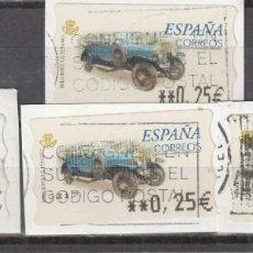 Sellos: 2001 ATM COCHES DE EPOCA ROLLS ROYCE S.C GASC........ 4 CON VALORES 0,25 Y 0,45. Lote 222071248