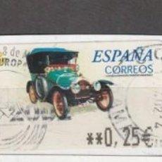 Sellos: 2001 ATM COCHES DE EPOCA PEUGEOT BEBE VALOR 0,25. Lote 222072761