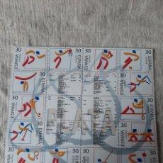 Sellos: 1995 DEPORTES OLÍMPICOS HOJA BLOQUE NUEVO/O USADA EDIFIL 3364/3377 FILATELIA COLISEVM LUGO. Lote 222098591