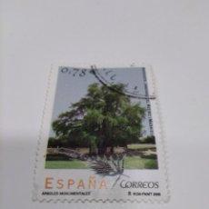 Sellos: 2005 EDIFIL 4149 ÁRBOLES MONUMENTALES. AHUEHUETE - JARDINES DEL RETIRO.. Lote 222119888