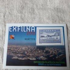 Sellos: VIGO GALICIA EXPOSICIÓN FILATÉLICA NACIONAL 3001 EDIFIL 3816 NUEVA O USADA FILATELIA COLISEVM. Lote 222133337