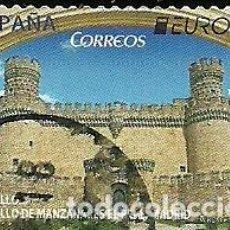Sellos: SELLO USADO CASTILLO MANZANARES EL REAL DE MADRID EDIFIL 5141. Lote 222201585