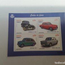 Sellos: ESPAÑA AÑO 2012 H.B. Nº 4725 COCHES EPOCA NUEVA. Lote 222248421