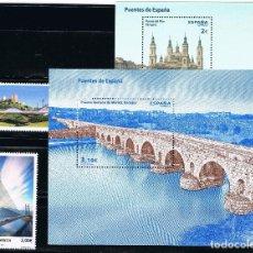 Sellos: ESPAÑA 2013 (4816-4819) PUENTES (NUEVO). Lote 222261245