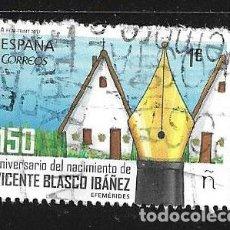 Sellos: 2017-ESPAÑA. 150 ANIVERSARIO DEL NACIMIENTO DE BLASCO IBAÑEZ. ESCRITOR. Lote 222279133